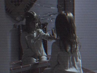 girl broken mirror